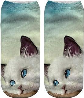 Jingyuu, Jingyuu–Calcetines para Hombre, 3D Dibujo Animado drôle Loco Gato Mignons, nouveauté Socks–Calcetines niña/Mujer/Hombre/niños