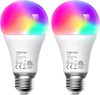 Smart Light Bulb 2 Pack - meross Smart WiFi LED Bulbs Works with Alexa, Google Home, Dimmable E26 Multicolor 2700K-6500K R...