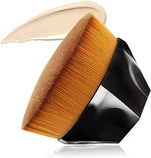Foundation Makeup Brush Flat Top Kabuki Hexagon Face Blush Liquid Powder Foundation Brush for Blending Liquid, Cream or Flawless Powder Cosmetics with Bonus Protective Case (Black) …