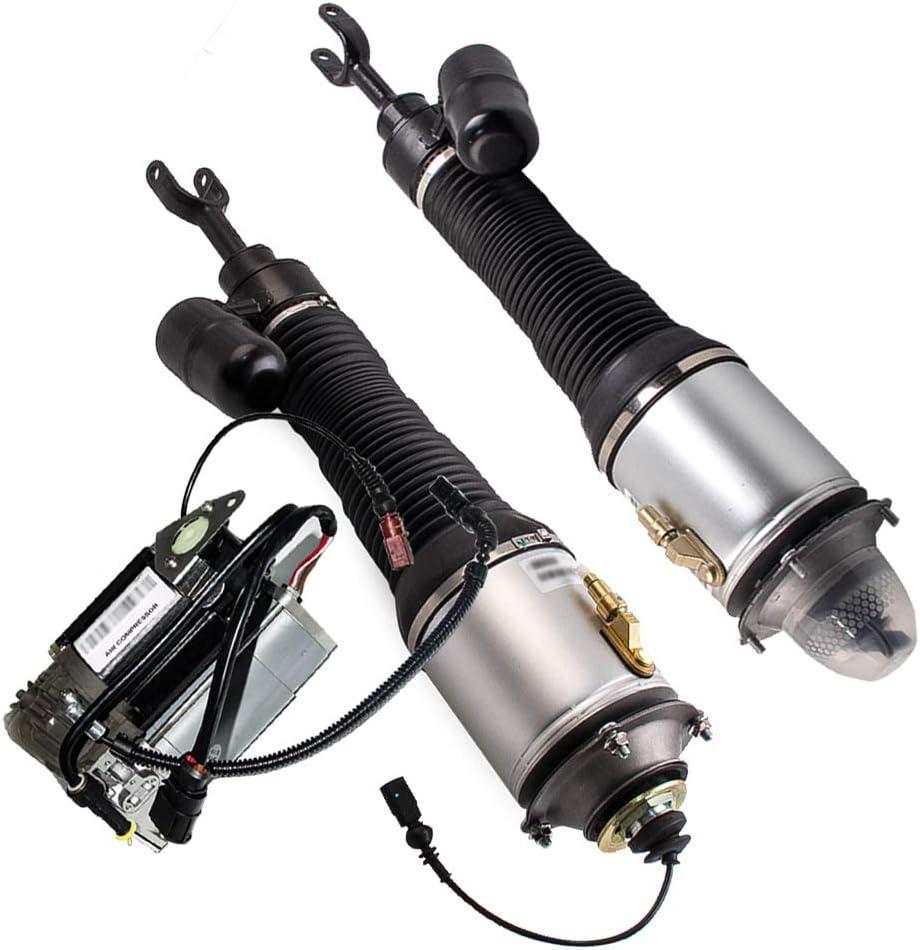Pair Air Suspension 至高 Shock Struts fit + Compressor for 本物 Bentle