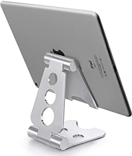 Tablet Stand, Phone Holder for Desk, Canjoy 1Pack Angle Adjustable Desktop Tablet Phone Holder Compatible with iPhone Xs M...