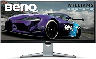 BenQ Ultrawide Curved Gaming Monitor (EX3501R), HDR, 21:9, WQHD, FreeSync, Sim Racing, 100Hz, B.I. Plus Sensor, USB-C, Cur...