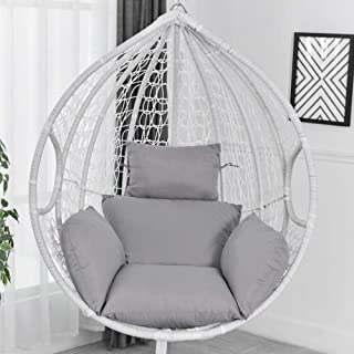 Hanging Egg Hammock Chair Cushions, Hanging Basket Swing Chair Lumbar Back Support Cushion Pillow, Swing Seat Cushion Thick Nest Back with Pillow for Indoor Outdoor Patio Yard Garden Beach Office