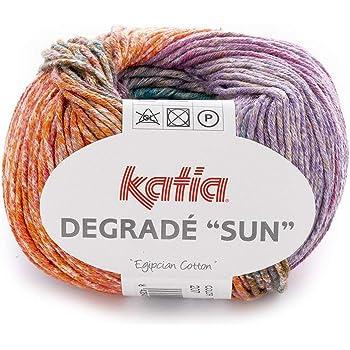 Katia degradé Sun – Color: Arena/Rosas/Jeans (111) – 50 g/aprox. 115 m lana: Amazon.es: Hogar