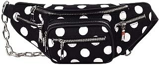 chinatera Waist Bags for Women, Dot Print Casual Fashion Waist Satchel Belt Bag Crossbody Chest Bags