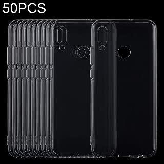 携帯電話ソフトケース 50 PCS 0.75mm極薄透明TPUソフト保護ケースHuawei P Smart(2019)/名誉10 Lite ソフトケース