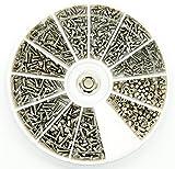 PROtastic Kit di viti e bulloni in acciaio inox, 600 pezzi assortiti: M1, M1.2, M1.4, M1.6...