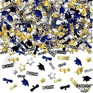 KatchOn, Graduation Confetti Table Decorations for Graduation Party Supplies, Gold, Black, Silver and Blue Color, 1.4 Ounce