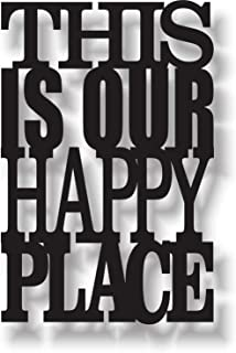 Printjas This is Our Happy Place MDF Laser Cut Wooden Door/Wall Hanging 30 x 20 cm - Designer Wall-Art for Living Room, Ho...