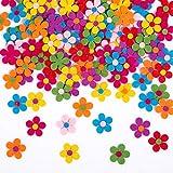Naler 120 Flores de Fieltro de Colores Adornos de Fieltro Ma