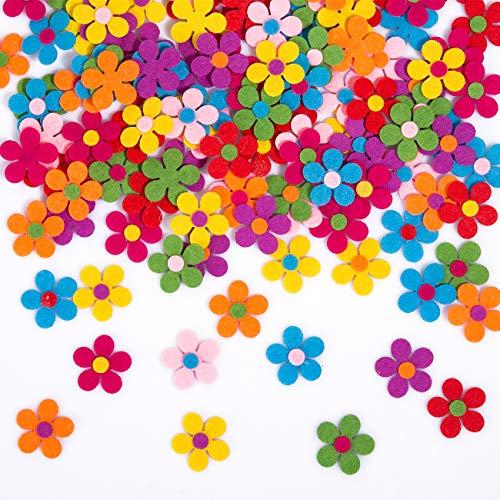 Naler 120 Fiori di Feltro per Decorazioni Colorate Margherite di Feltro per Fai da Te Decorazioni di Abbigliamenti, Scrapbooking