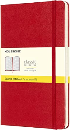 Moleskine Classic Notebook, Large, Squared, Red, Hard Cover (5 x 8.25) (Classic Notebooks)