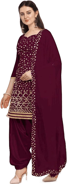 Punjabi Patiyala Suits Embroidery Worked With Dupatta Indian Designer Dress Ready To Wear