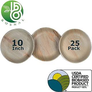 round palm leaf plates