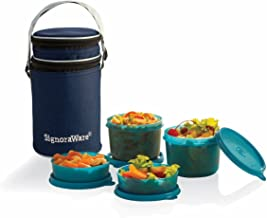 Signoraware Executive Lunch Box with Bag 15cm T Blue
