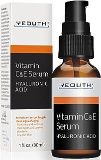 Vitamine C Serum Voor Overdag met Hyaluronzuur Serum, Vitamine E, Anti Aging, Anti Rimpel, Vul Fijne Lijnen, Egaliseert hu...