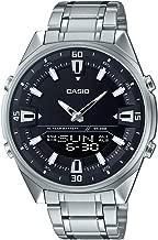 Casio AMW830D-1AV Men's Stainless Steel Black Dial Analog Digital Telememo 30 Watch