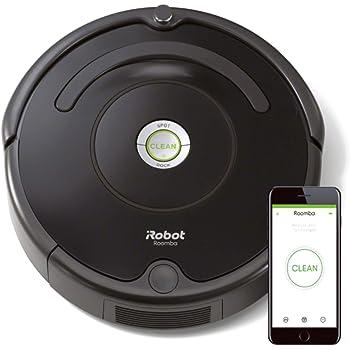 iRobot Roomba 671 Robot aspirapolvere WiFi, Adatto a tappeti e Pavimenti, Tecnologia Dirt Detect, Sistema 3 Fasi, 58 dB, Pulizia programmabile, Grazie alla App, Compatibile con Alexa, Nero