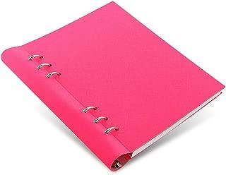 Filofax Clipbook Saffiano Refillable A5 Notebook - Fluoro Pink