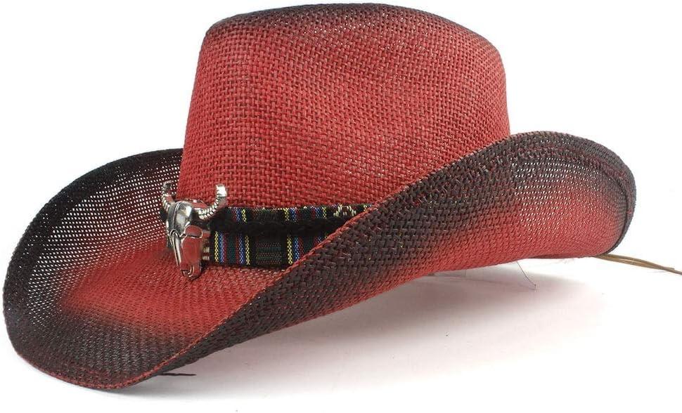 LIRRUI discount Women Men Hollow Western Weave Austin Mall Handmade Hat Cowboy Straw