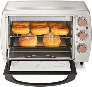 CYN-Mini horno tostador de convección de escritorio con control separado de los tubos superior e inferior de acero inoxidable, con bandeja para hornear y bandeja receptora de escoria, 20L1200W blanc