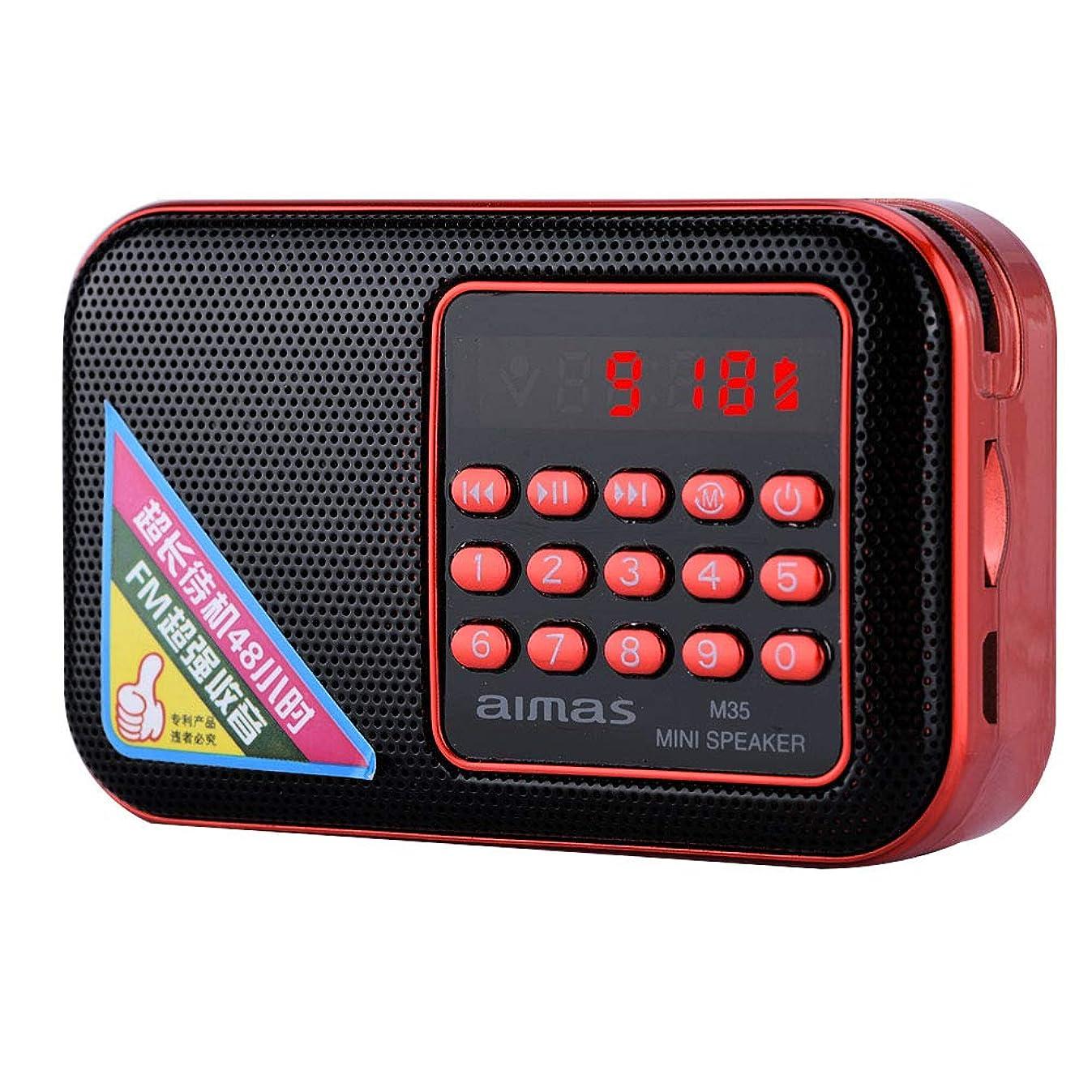 巧みな静脈パッチ新品未使用 M35ポータブルFMラジオ 大型LEDラジオ ロングスタンバイラジオ TFカードいれ 老人用進めラジオ USBポート提供 充電可能のバッテリ付きラジオ