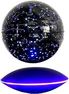 ZLUOK 15 cm flytande glob med magnetsvetenskaplig konstellation, 360° tre/flerfärgade byte med LED-lampor, 15 V 1 A för he...