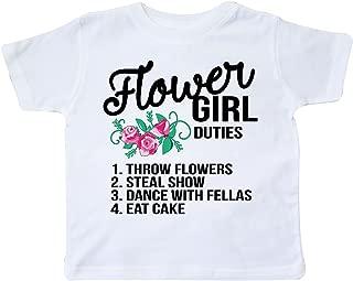 inktastic Flower Girl Wedding Duties Toddler T-Shirt