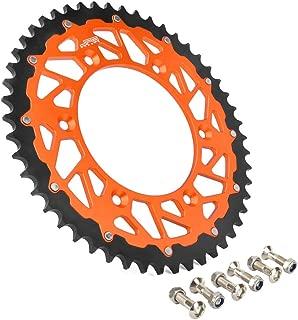48T Teeth Rear Chain Sprocket For KTM EXC EXC-F EXE SX SX-F SXS SXC XC-W XC XC-F XCFW MXC SMC SMR 125 144 150 200 250 300 350 380 400 LC4 450 520 525 530 540 560 640 690 790 Duke CNC Orange