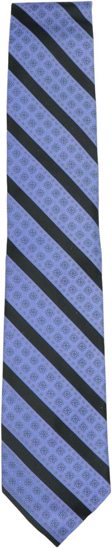 Stefano Ricci Men's Purple/Black Luxury Collection Italian Silk Medallioned Large S Necktie - One Size