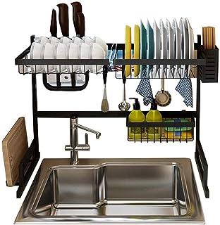 rangement et organisation de cuisine Au-dessus du égouttoir de séchage for évier de cuisine, en acier inoxydable dessus de...