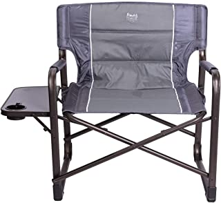 Timber Ridge XXL Large Directors Chair Heavy Duty Folding Camping Chair for Full Padded with Side Table, Supports 600lbs