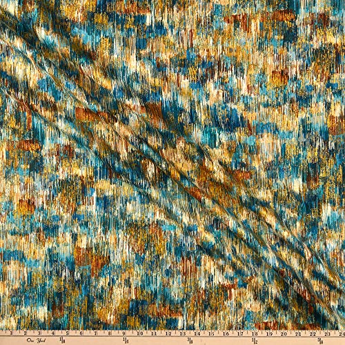 Robert Kaufman Fusions Brushwork Quilt Fabric, Teal Blue, Quilt Fabric By The Yard