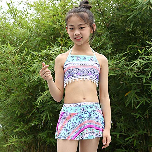 GUOZI Bikini 5-11Y Meisjes Zwemkleding Kinderen Zwempak Hoge taille Baby Print Badpak voor Kids Baby Meisje Kinderen Strandkleding