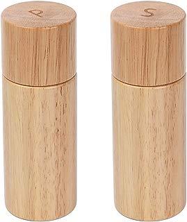KKC Salt and Pepper Grinder Set Wood,Salt and Pepper Mills Set with Ceramic Core, 5.9 inches, 2 Piece Set
