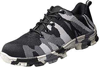 Homyl Work Steel Toe Shoes Safety Shoes for Men and Women Lightweight Industrial & Construction Shoe - Gray-44