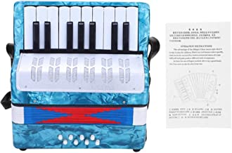 Children Accordion Music Toy 17 Key 8 Bass Accordion Educational Toys Music Instruments for Beginners Students 4 Colors (Light Blue)
