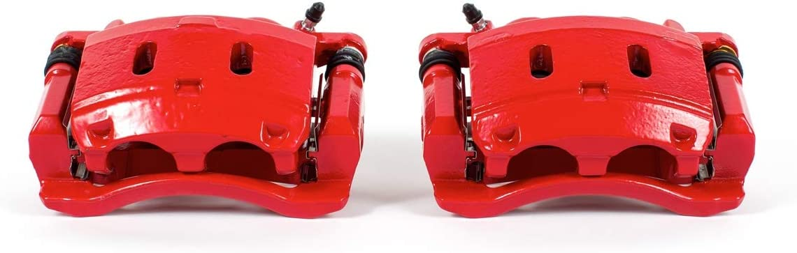 Power low-pricing Stop S3338 Red Powder-Coated Caliper Performance Attention brand