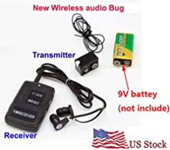 Wireless Transmitter Receiver Audio Monitor Covert FM Sound Listening Device Ear Monitor