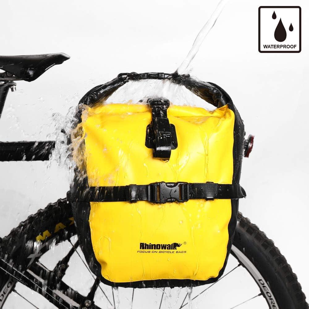 Rhinowalk Bike Pannier Bag, Waterproof Rack Bicycle Bag 20L, Bike Bag Shoulder Bag Laptop Pannier Backpack Professional Cycling Accessories