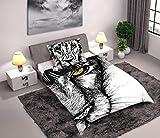 Bed Set Wild Leon Lion Animal Nature 160x200cm Funda De Edredon + Funda de Almohada 100% Algodón Original