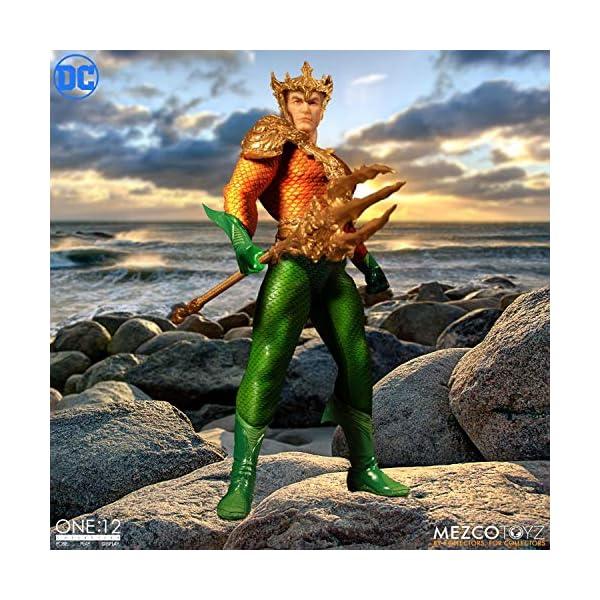 Figura Aquaman 17 cm. One:12. DC Cómics. Mezco Toyz 5