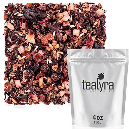 Tealyra - Pina Colada Cocktail Tea - Coconut Hibiscus Fruit Tea - Herbal and Fruity Loose Leaf Tea - No Caffeine - Hot or Iced Tea - Healthy - 110g (4-ounce)