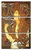 Printed Paintings Impression sur Toile 3 pièces(80x120cm): Alfons Mucha - Job Cigarettes