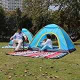 OM Fashion Oxford Fabric 2 Person Tent Instant Camping Light Weight Waterproof Family Tent (200 X 150 X 110 cm_Blue) OM F-119