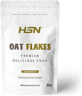 HSN Copos de Avena Integrales Finos Oat Flakes | Cereal con Proteínas, Carbohidratos de Lenta Digestión y Ácidos Grasos Esenciales | Aporte de Fibra | ...