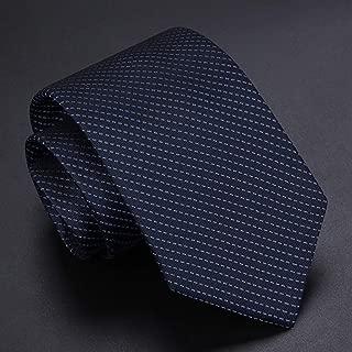 Solid Color, Striped Pattern Silk Tie Casual Business Party Work Classic Tie Men 145×7cm CQQO (Color : E)