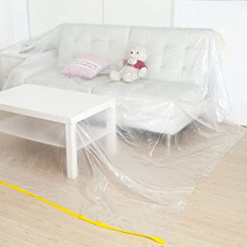"""146""""Lx106""""W Extra Large Sofa Couch Cover, Heavy Duty PEVA Waterproof & Dustproof Sofa Storage Covers,Bed Sofa Couch Furniture Protector Cover Shelter ForMoving Protection and Long Term Storage"""