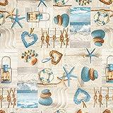 Fabulous Fabrics Dekostoff Canvas, beschichtet Maritim –