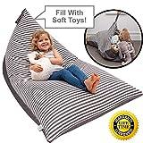 Huddle Supply Co Sitzsack für Kinder – Kinder-Sitzsack, Aufbewahrung,...
